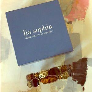 Lia Sophia bracelet rhinestone looks like leopard